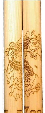 graphic engraved drumstick link