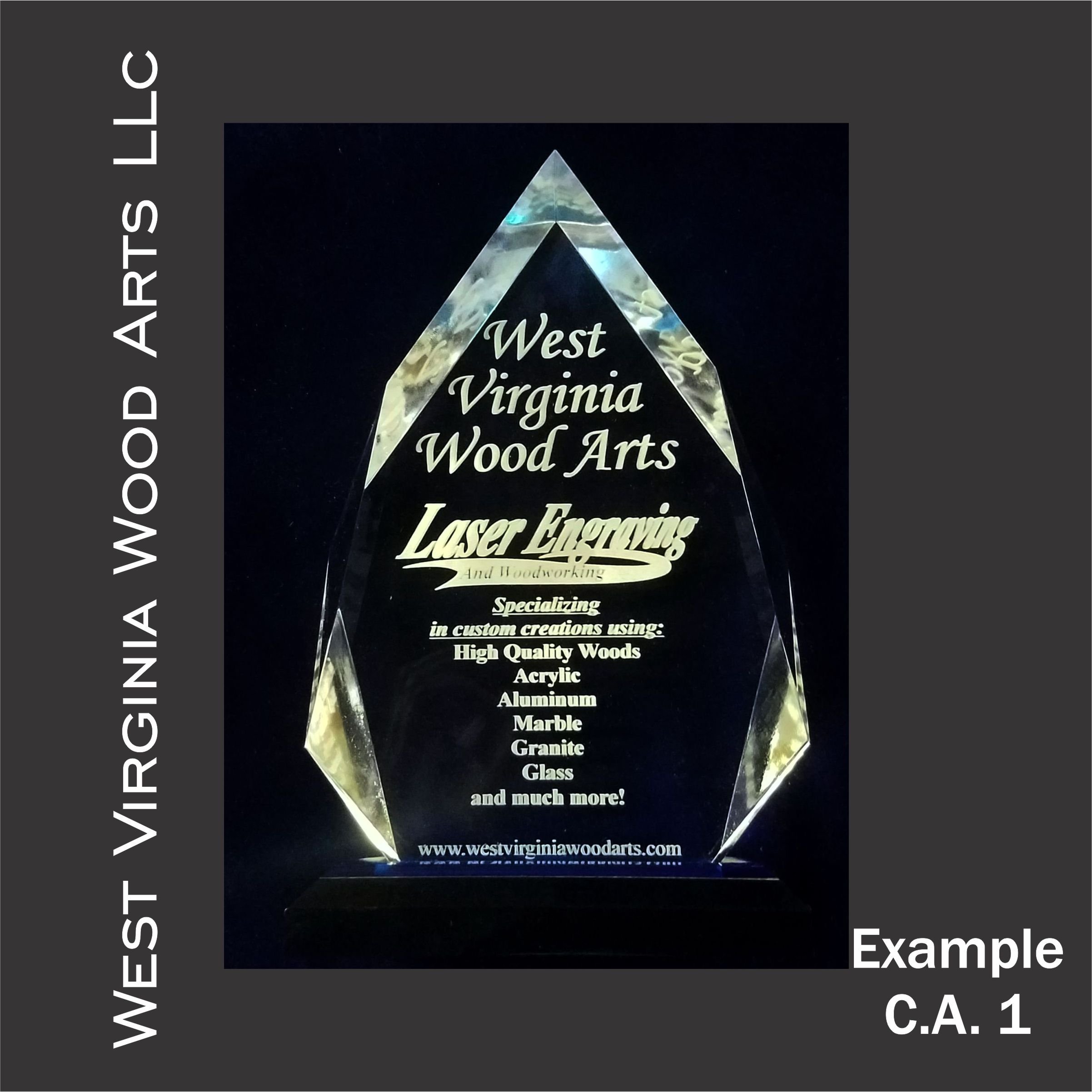 custom diamond shape personalized award