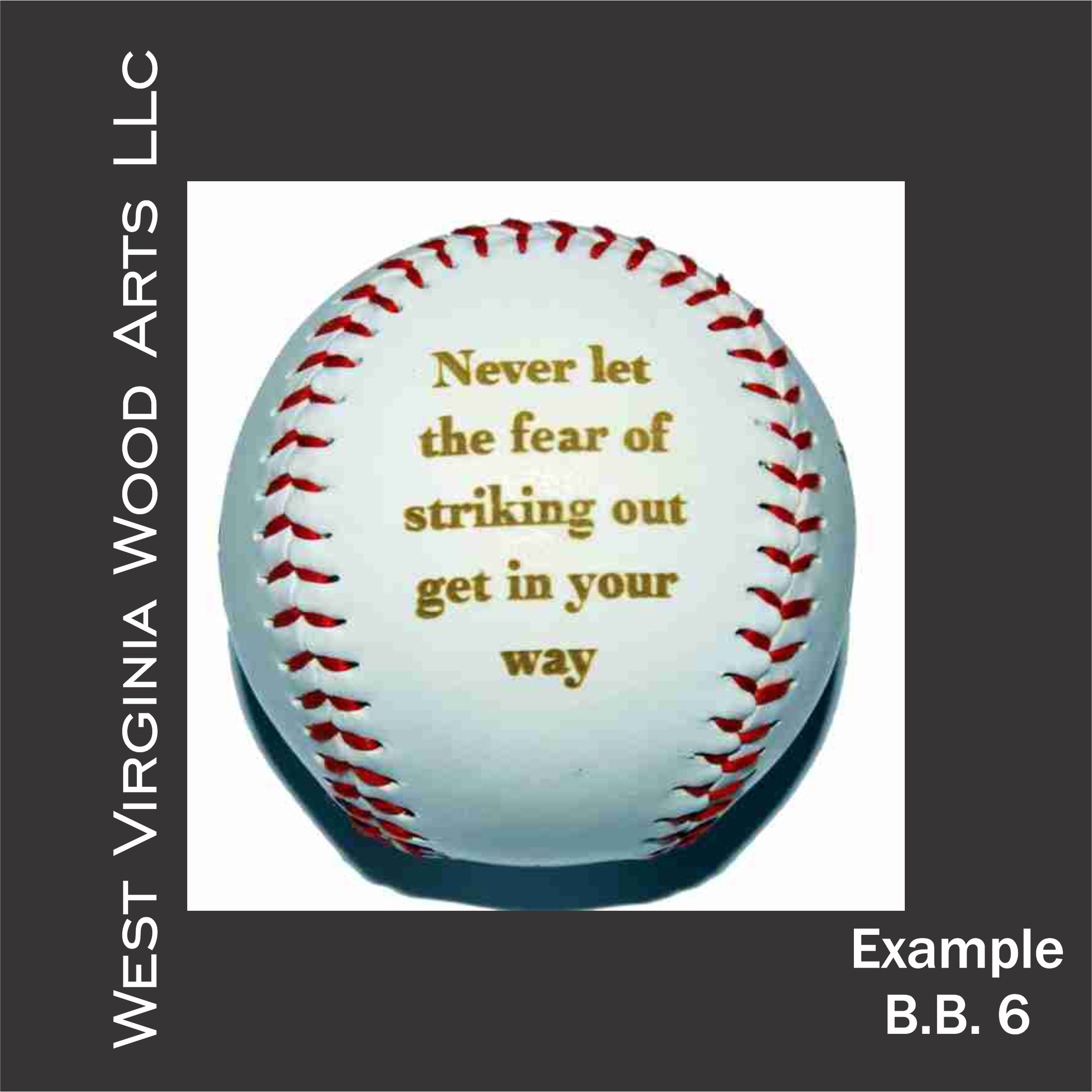 customized baseball with quote engraving