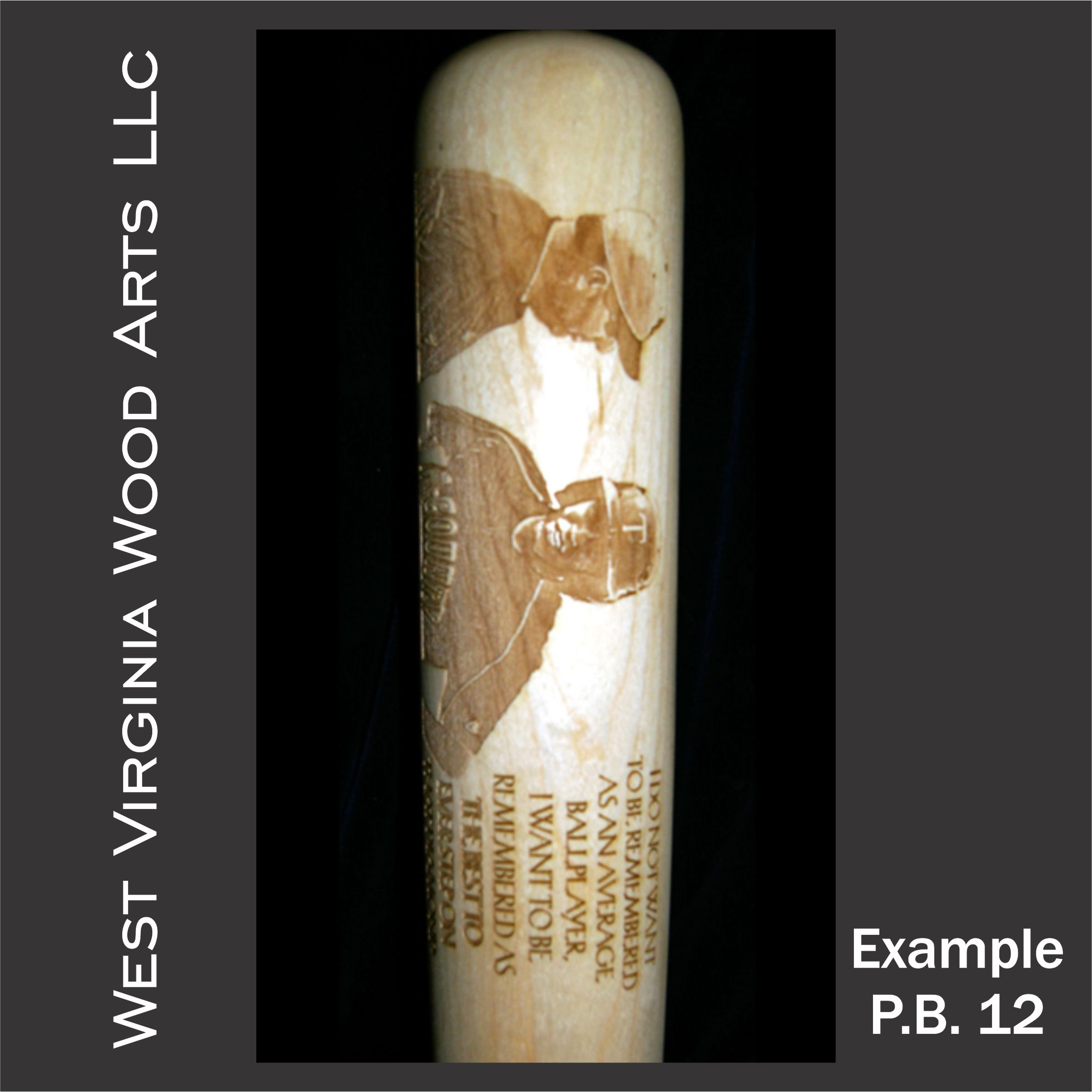 coach and player personalized presentation bat