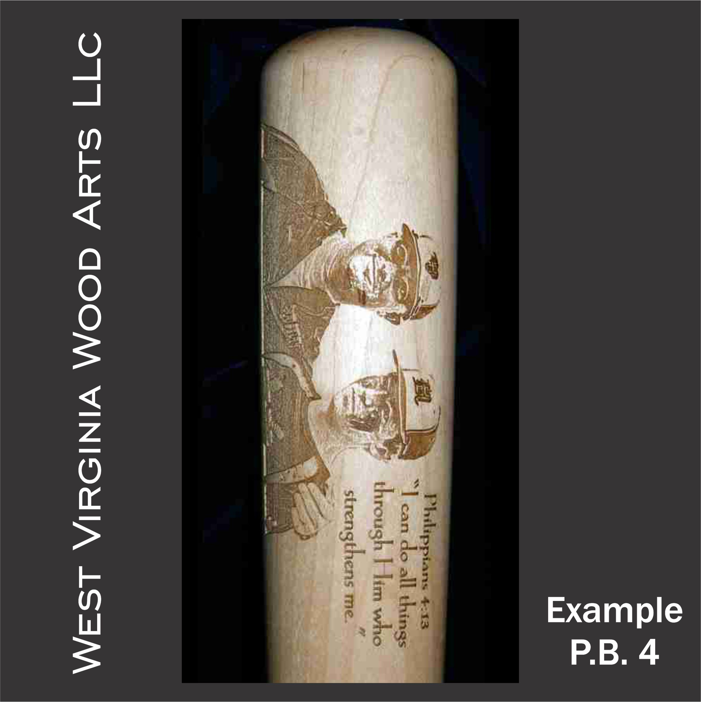 Custom bat with horizontal engraving of father and Son