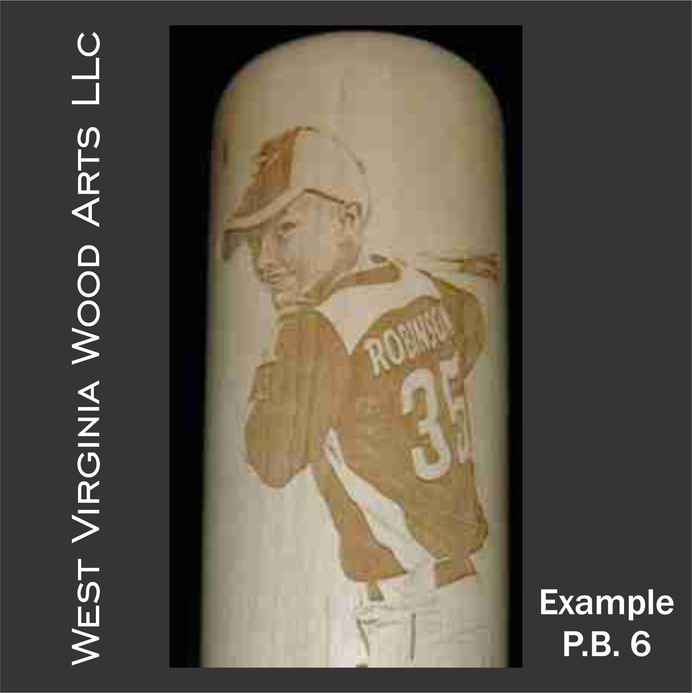 personalized maple baseball bat with up close player engraving