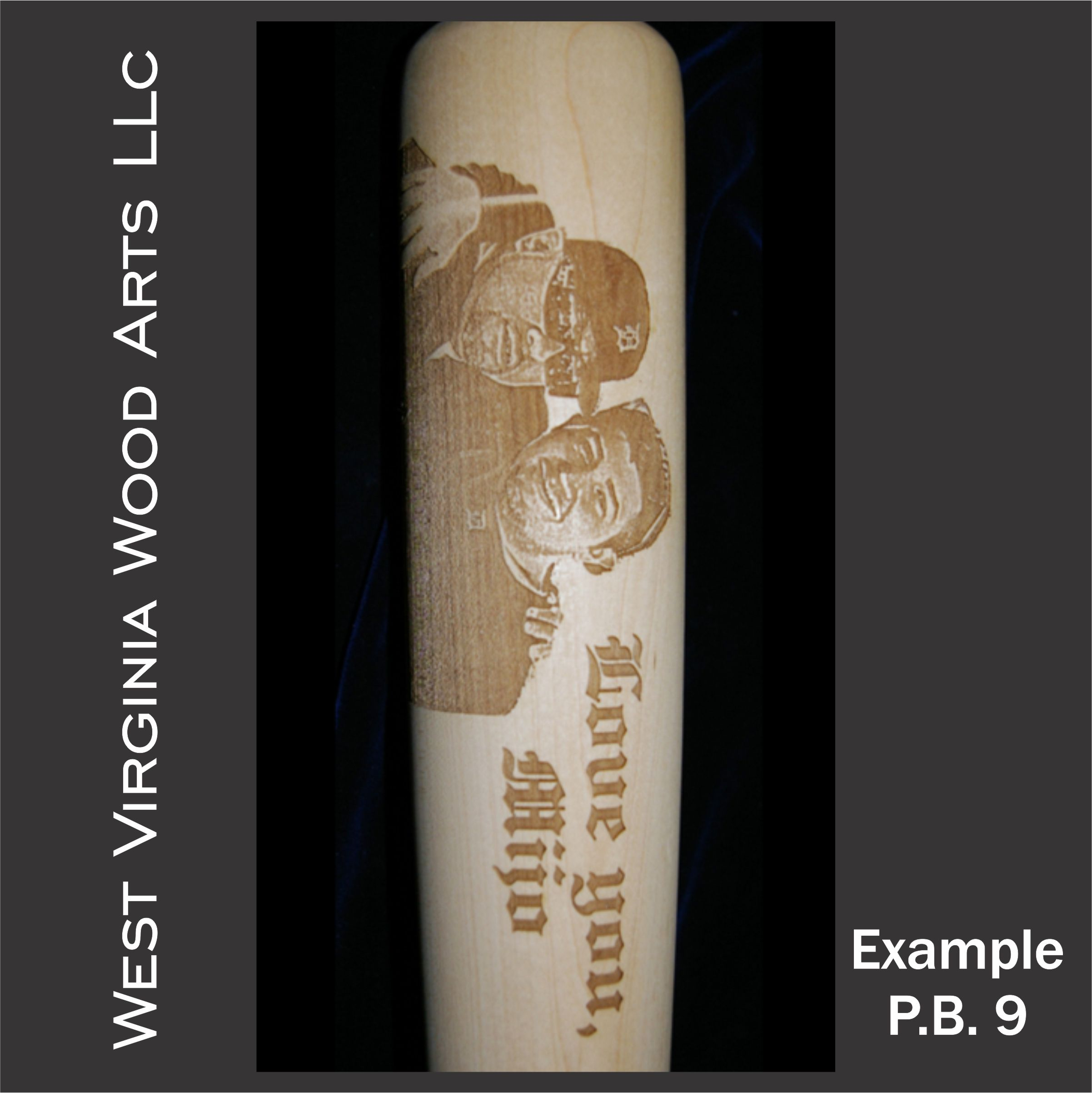 custom engraved baseball bat with personal photo