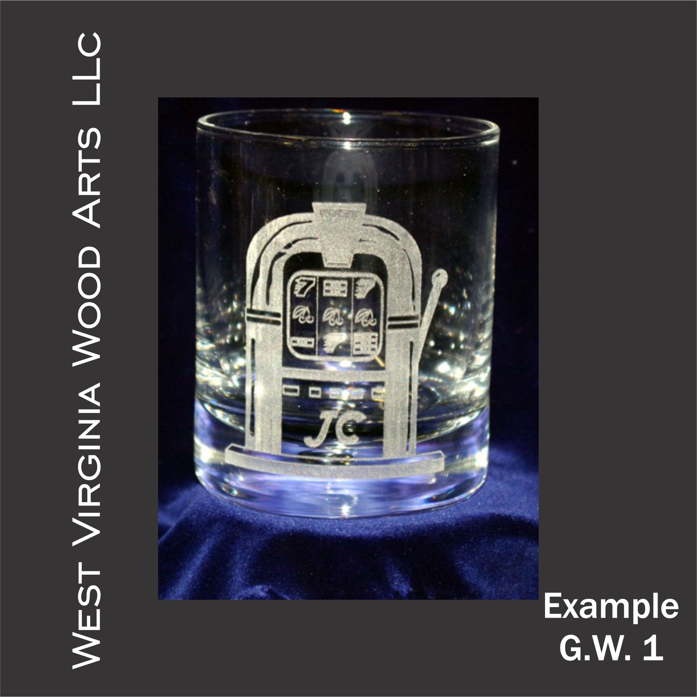 personalized glassware with graphic engraving main link example