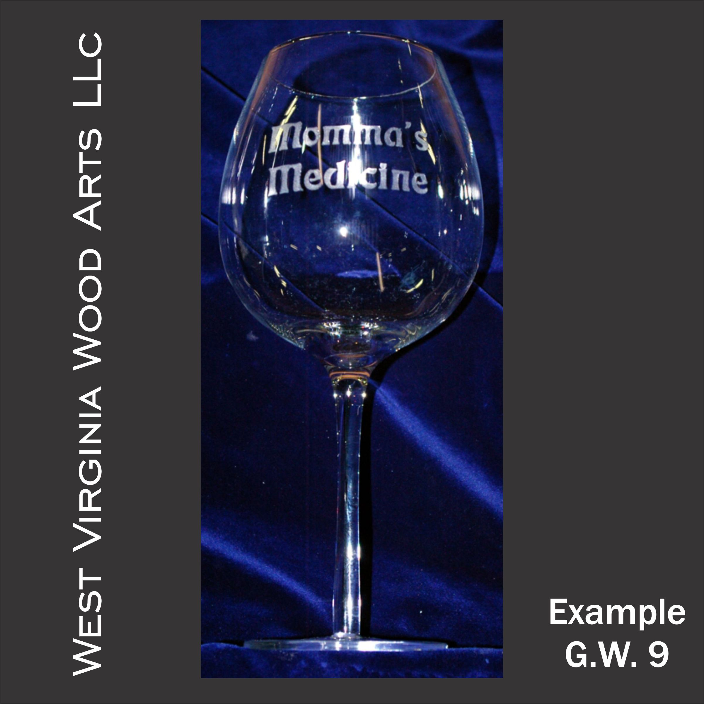 oversized wine glass with etched personalized wording