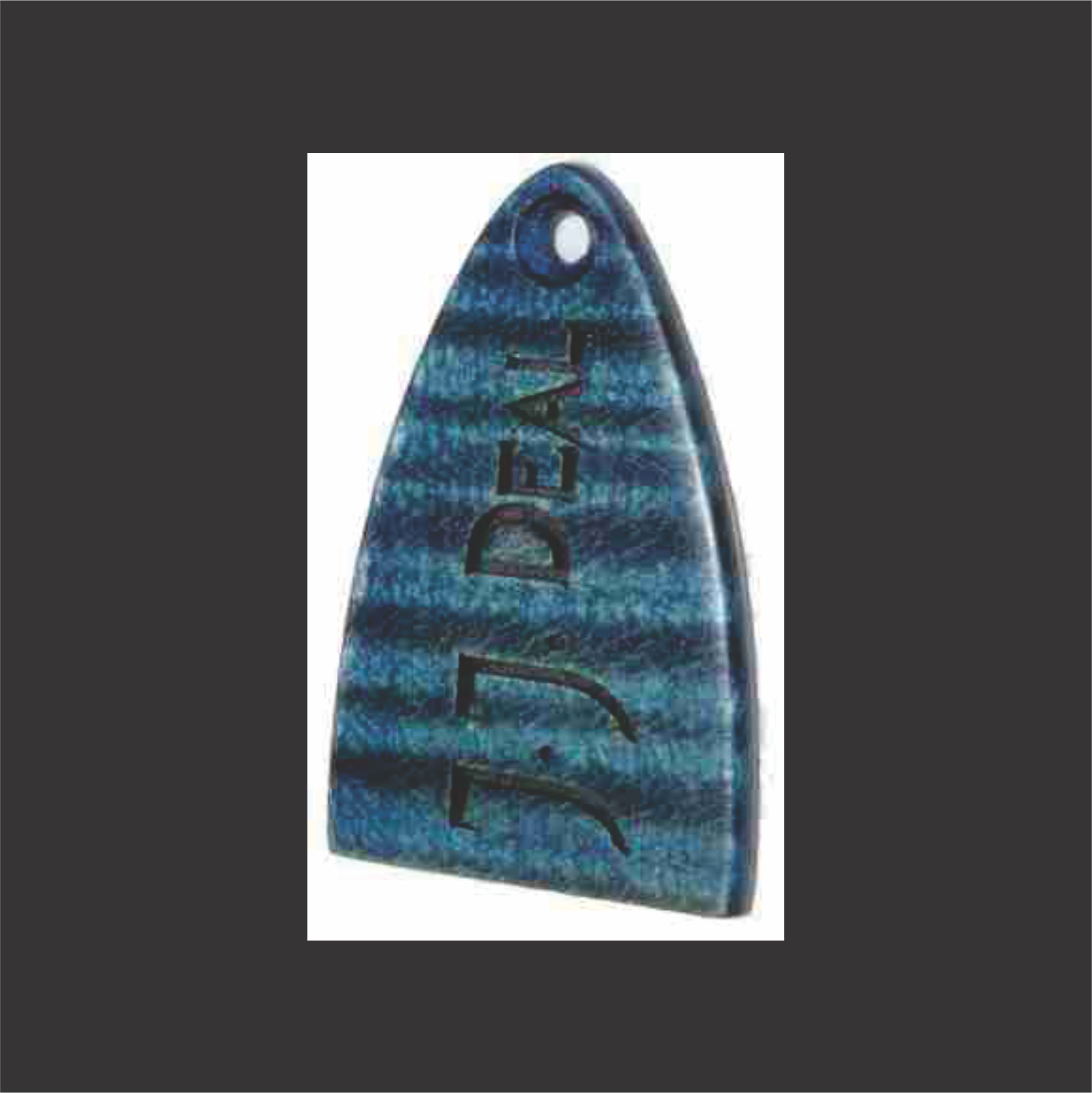 High Grade Flame Maple Truss Rod Cover With Blue Stain